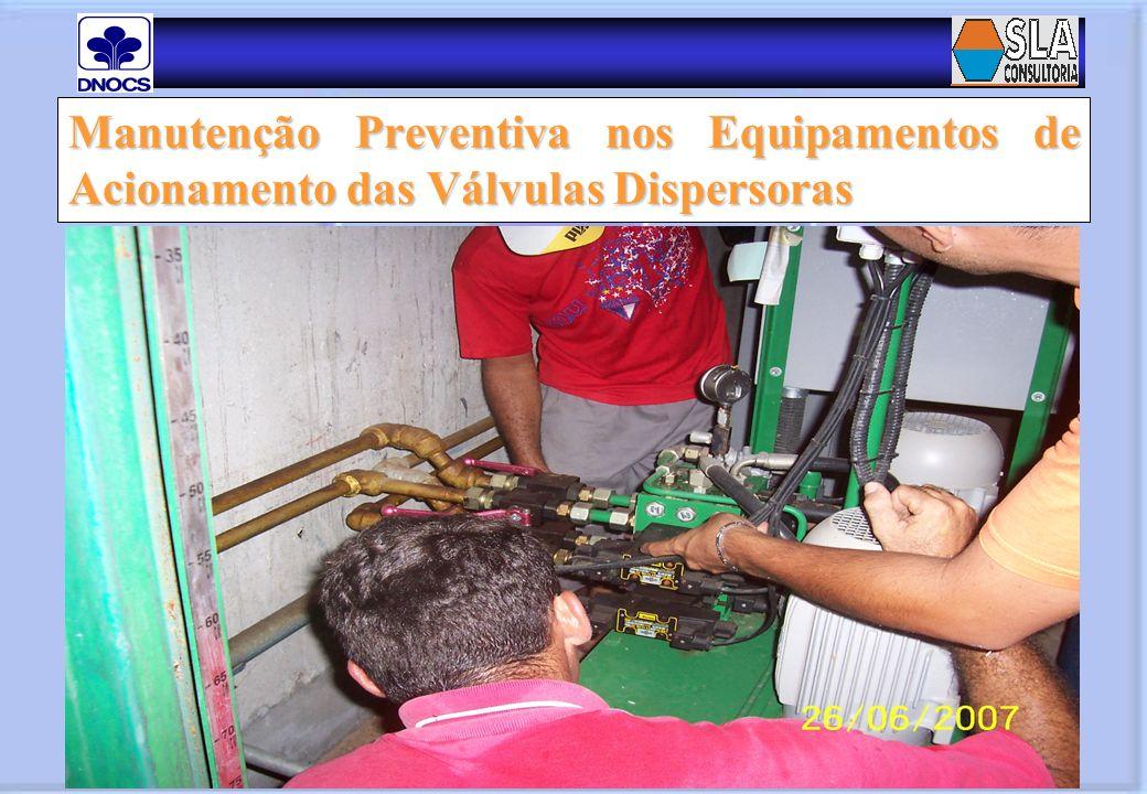 Manutenção Preventiva nos Equipamentos de Acionamento das Válvulas Dispersoras