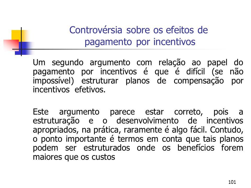 Controvérsia sobre os efeitos de pagamento por incentivos