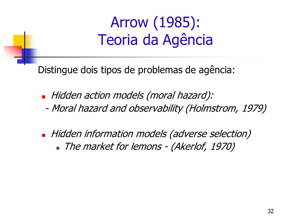 Arrow (1985): Teoria da Agência