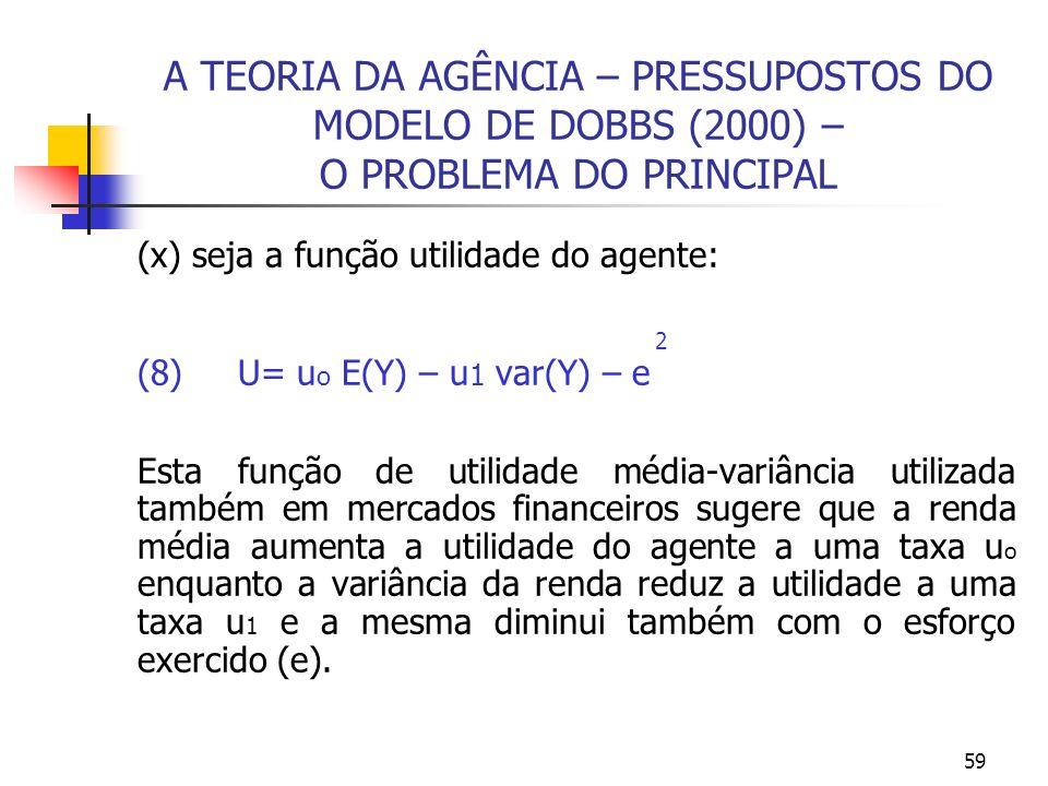 TEORIA MICROECONÔMICA II - NOTAS DE AULA TEORIA DA AGÊNCIA E DOS INCENTIVOS