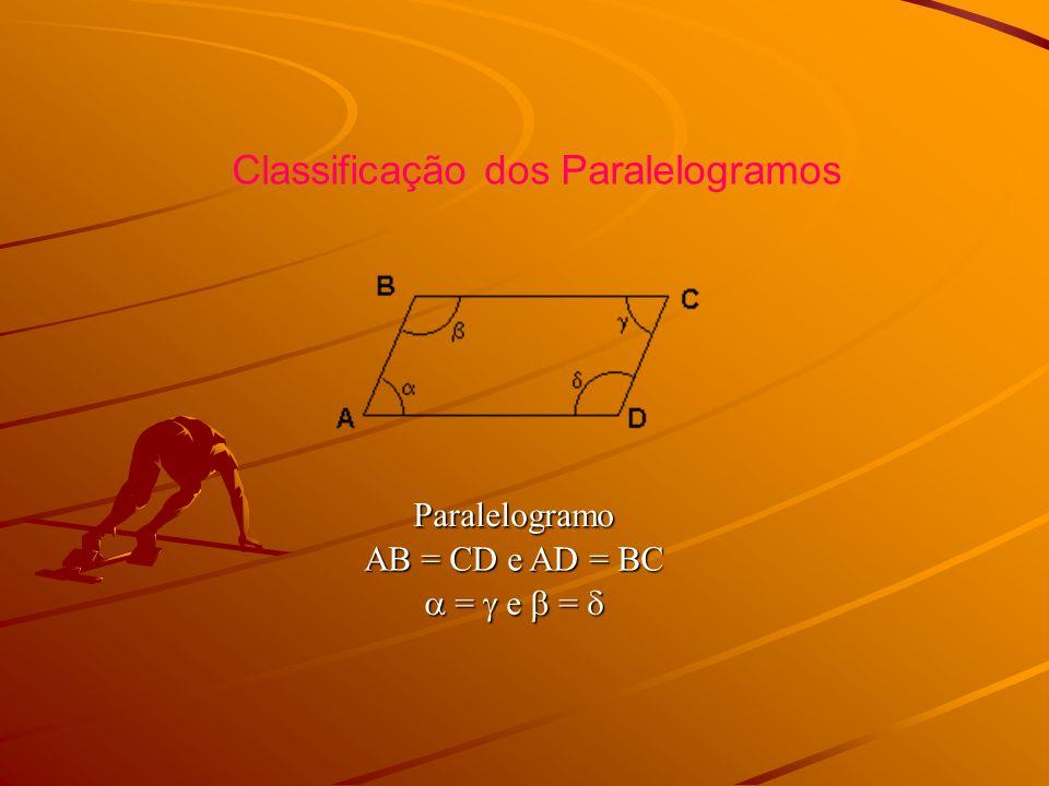 Classificação dos Paralelogramos