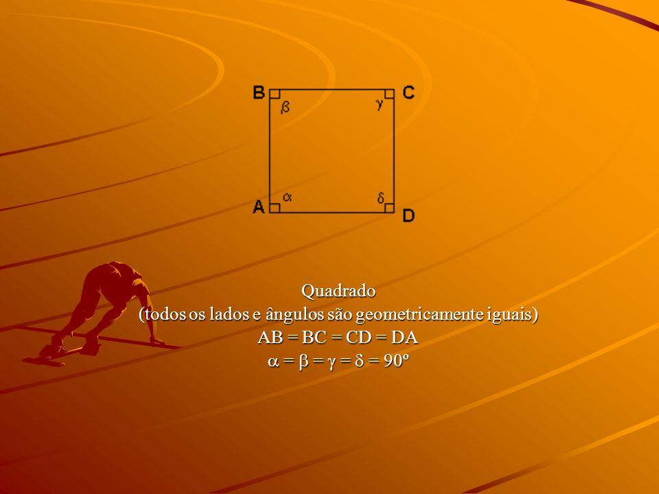 (todos os lados e ângulos são geometricamente iguais)
