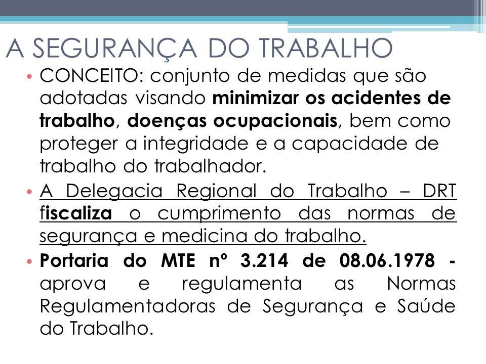 A SEGURANÇA DO TRABALHO
