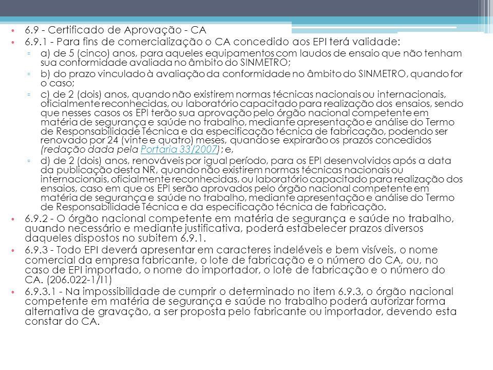 6.9 - Certificado de Aprovação - CA