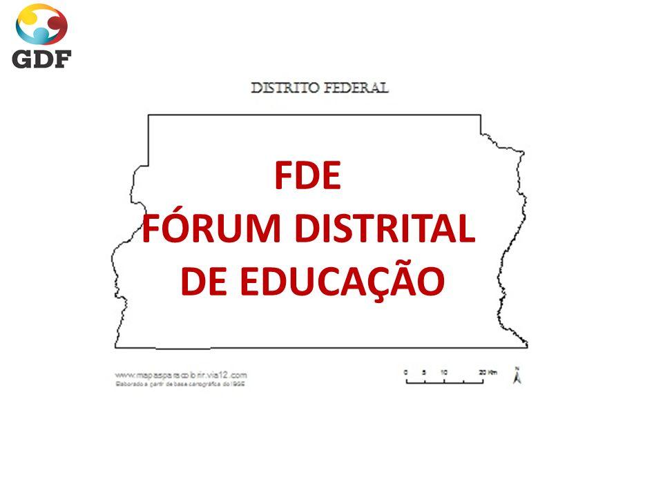 FDE FÓRUM DISTRITAL DE EDUCAÇÃO