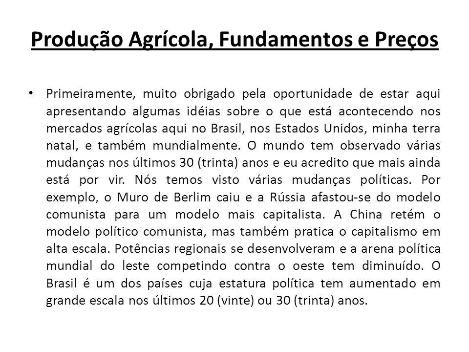 Produção Agrícola, Fundamentos e Preços