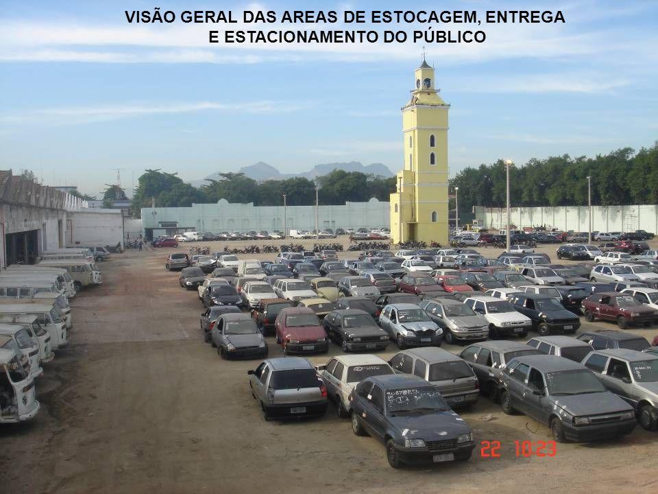VISÃO GERAL DAS AREAS DE ESTOCAGEM, ENTREGA