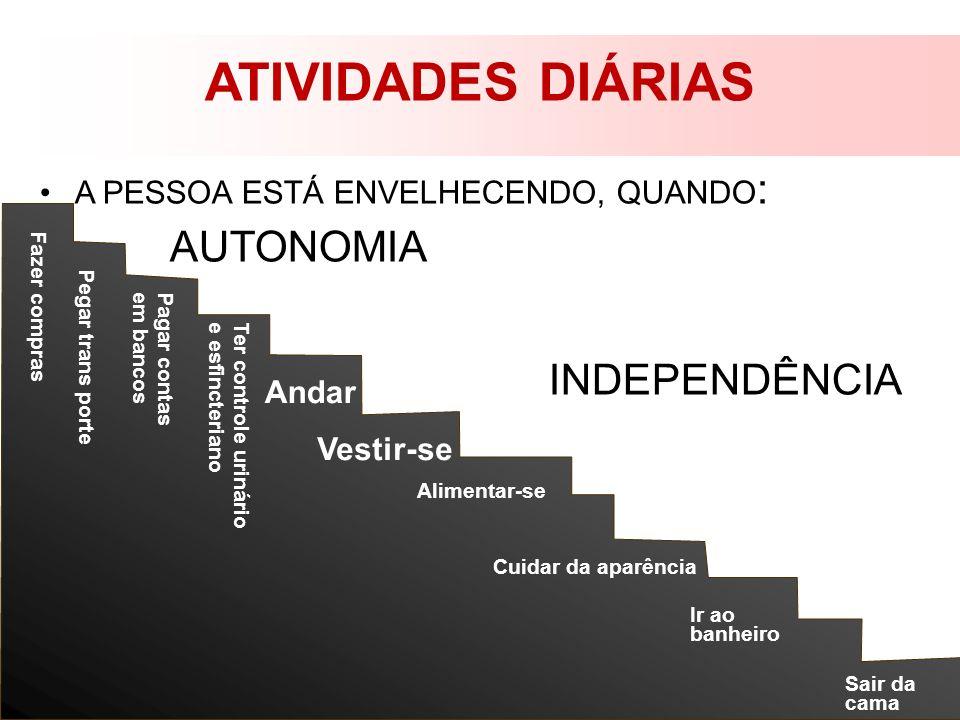 ATIVIDADES DIÁRIAS AUTONOMIA INDEPENDÊNCIA