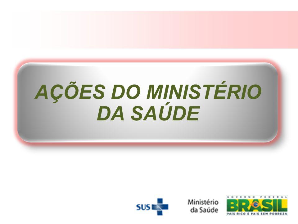 AÇÕES DO MINISTÉRIO DA SAÚDE