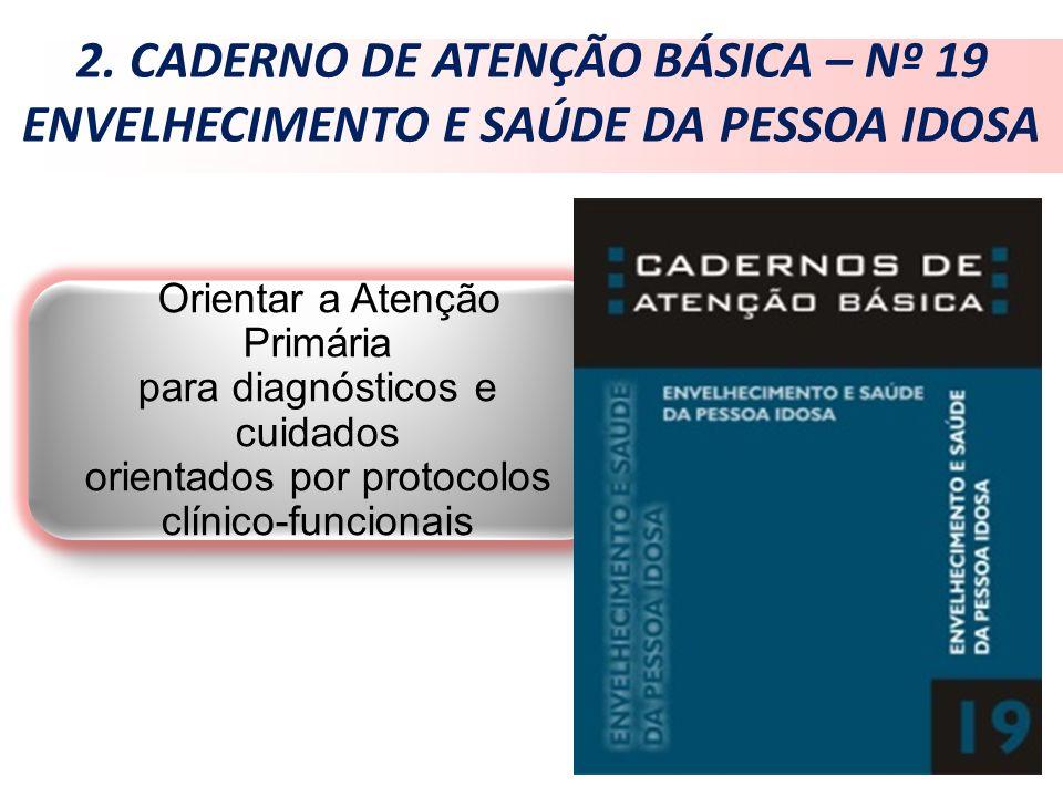 2. CADERNO DE ATENÇÃO BÁSICA – Nº 19 ENVELHECIMENTO E SAÚDE DA PESSOA IDOSA