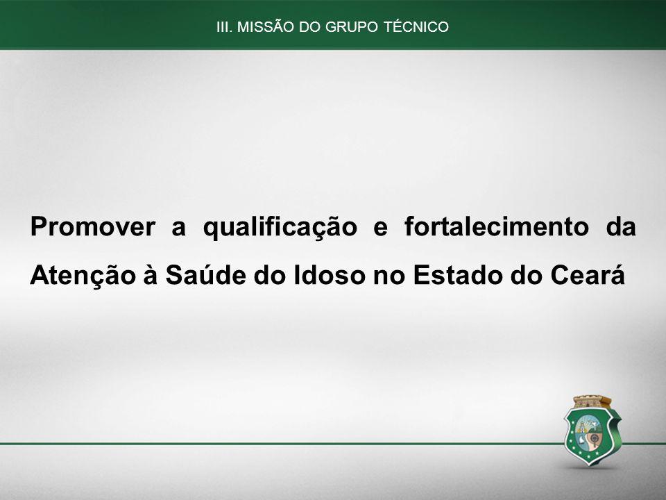 III. MISSÃO DO GRUPO TÉCNICO