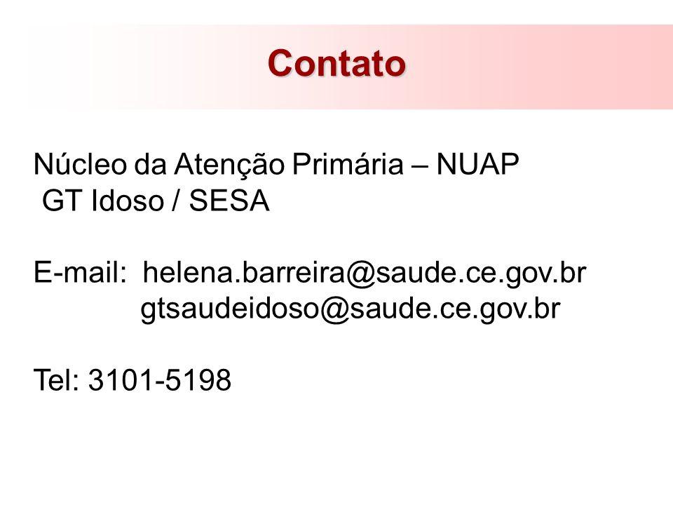 Contato Núcleo da Atenção Primária – NUAP GT Idoso / SESA