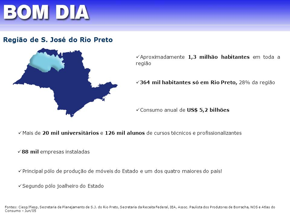 Região de S. José do Rio Preto