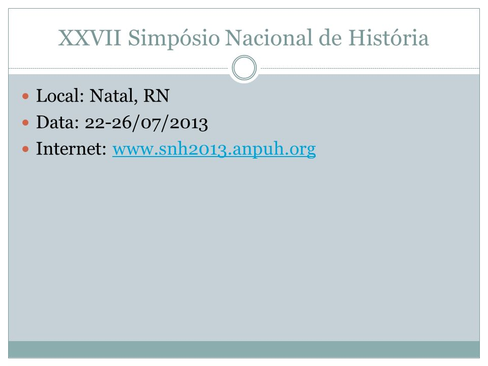 XXVII Simpósio Nacional de História