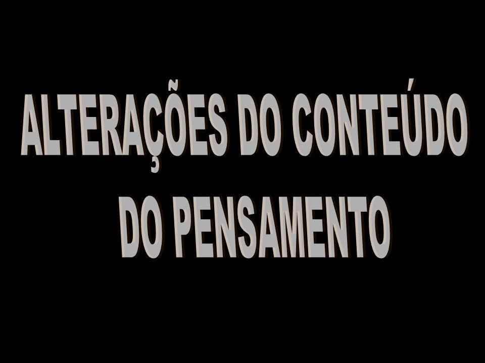 ALTERAÇÕES DO CONTEÚDO