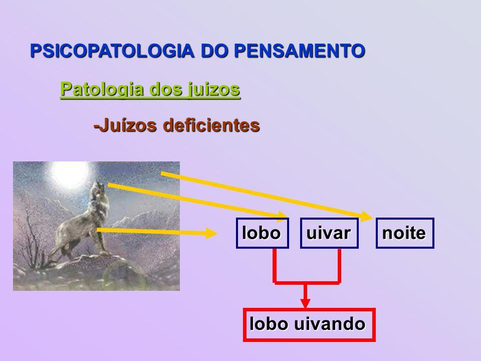 PSICOPATOLOGIA DO PENSAMENTO