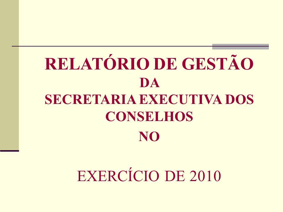 SECRETARIA EXECUTIVA DOS CONSELHOS