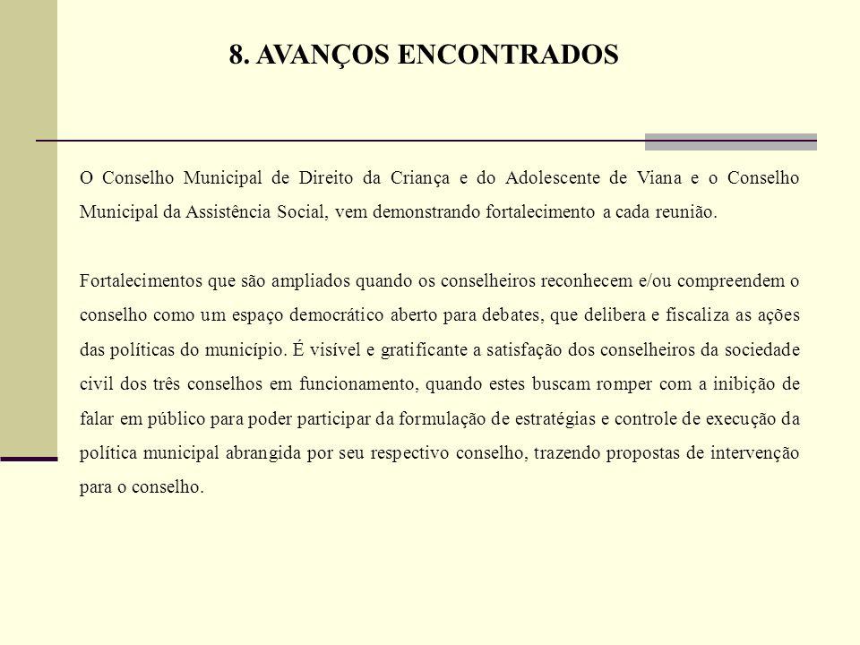 8. AVANÇOS ENCONTRADOS