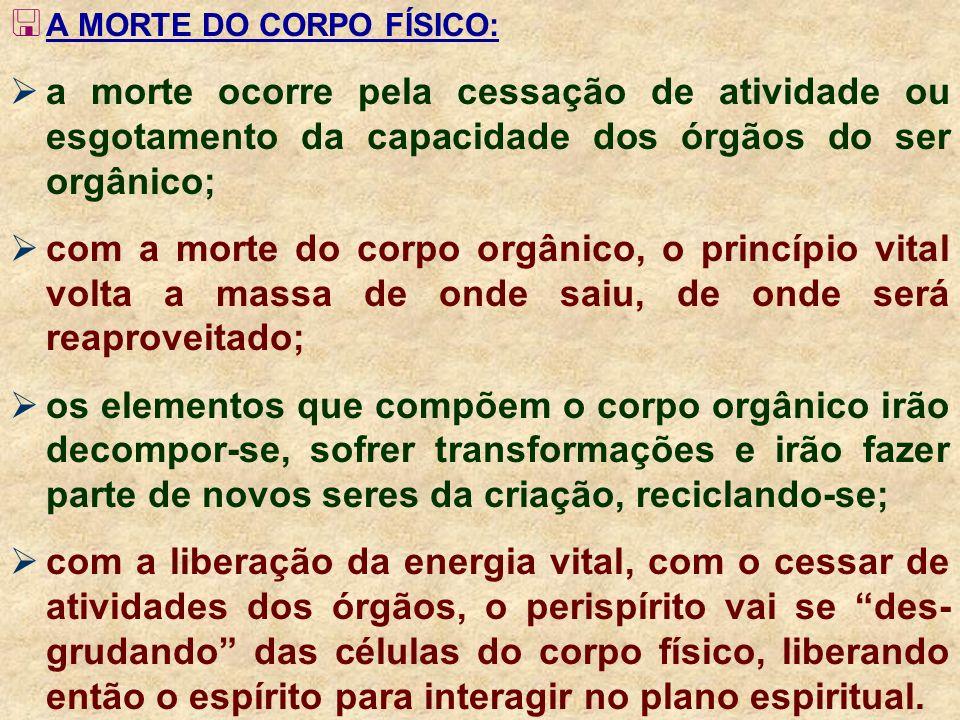 A MORTE DO CORPO FÍSICO: