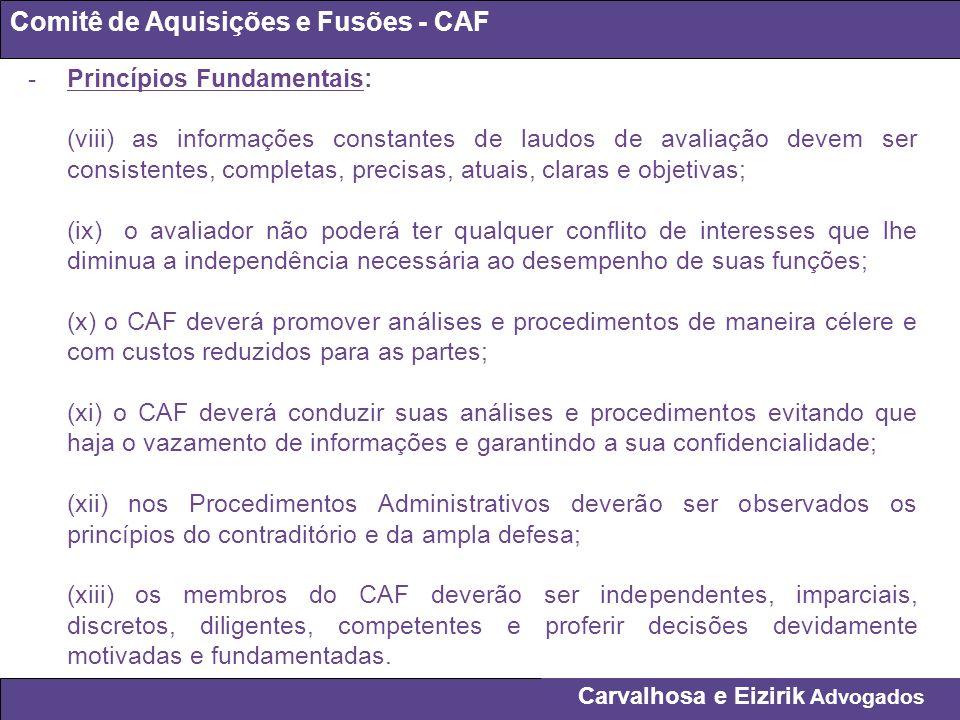 Comitê de Aquisições e Fusões - CAF