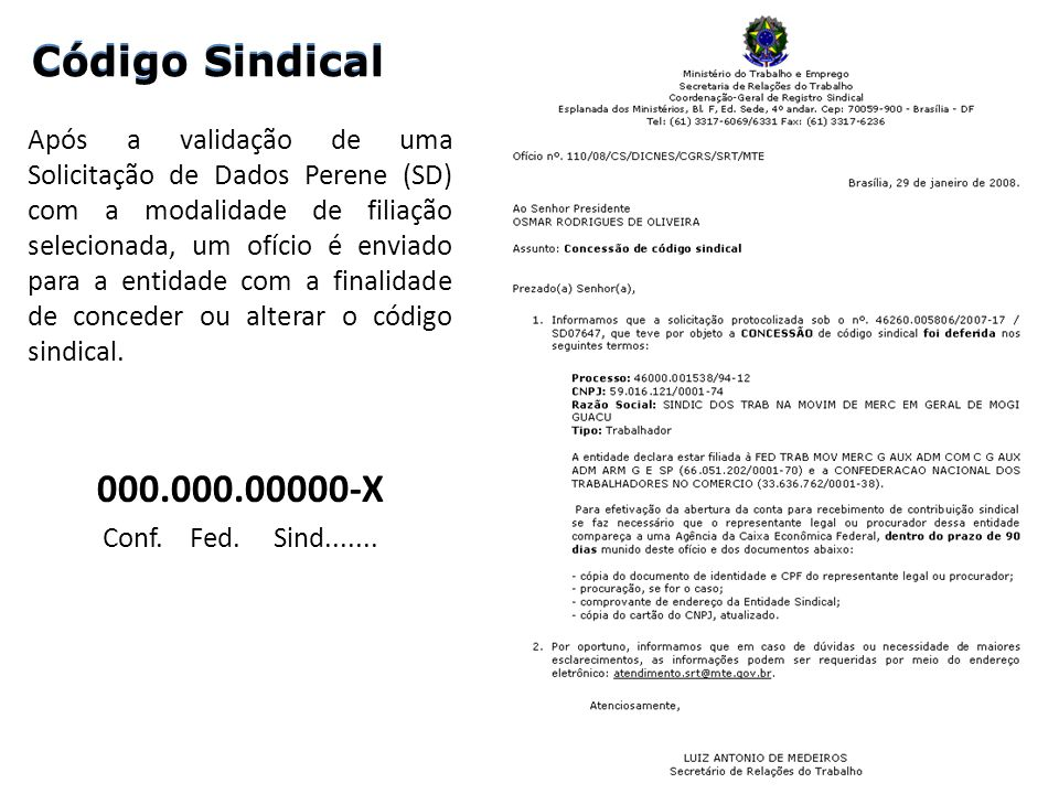 Código Sindical Código Sindical 000.000.00000-X