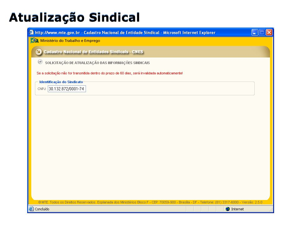 Atualização Sindical Atualização Sindical