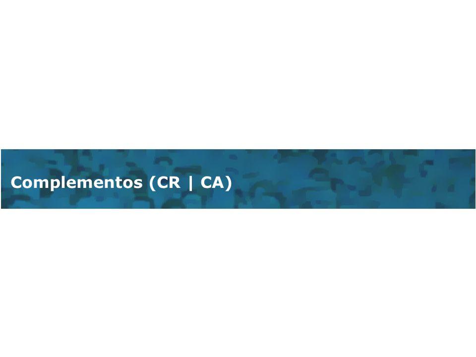 Complementos (CR | CA)