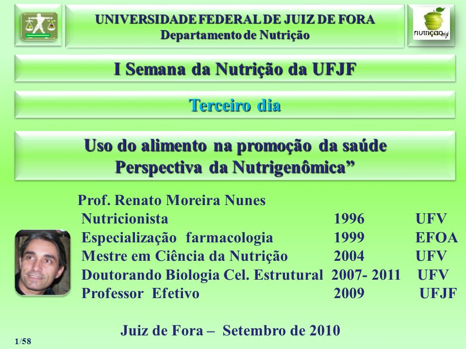 I Semana da Nutrição da UFJF