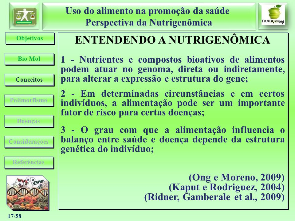 ENTENDENDO A NUTRIGENÔMICA