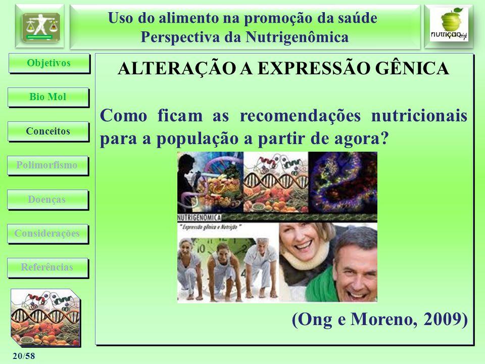 ALTERAÇÃO A EXPRESSÃO GÊNICA