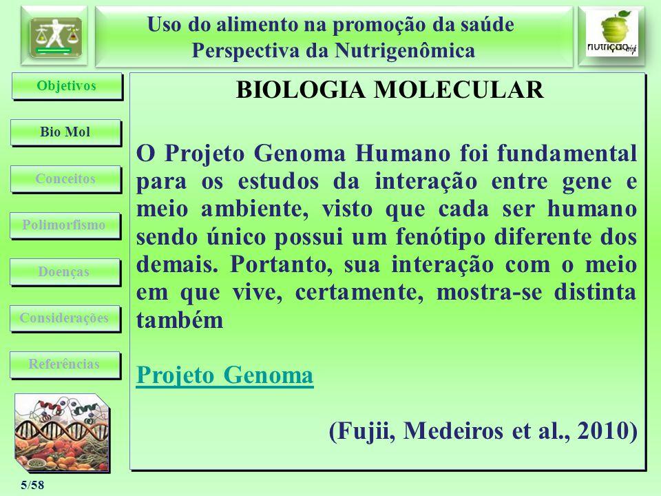 Objetivos BIOLOGIA MOLECULAR.