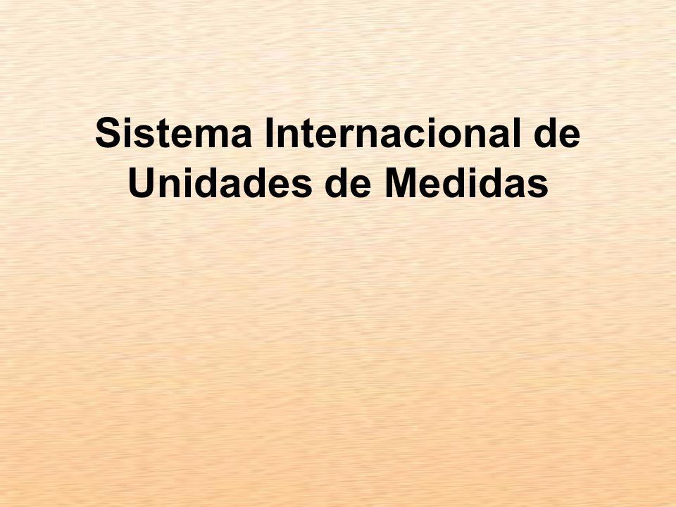Sistema Internacional de Unidades de Medidas