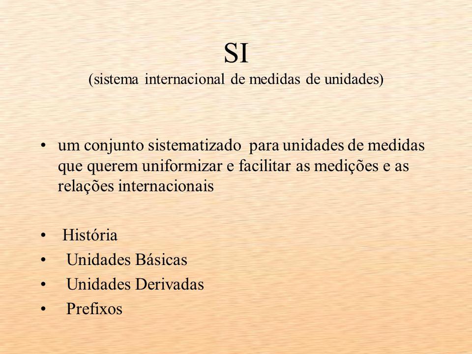 SI (sistema internacional de medidas de unidades)