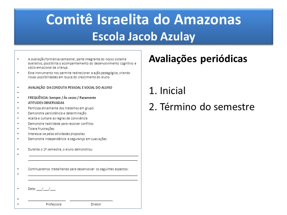 Comitê Israelita do Amazonas Escola Jacob Azulay