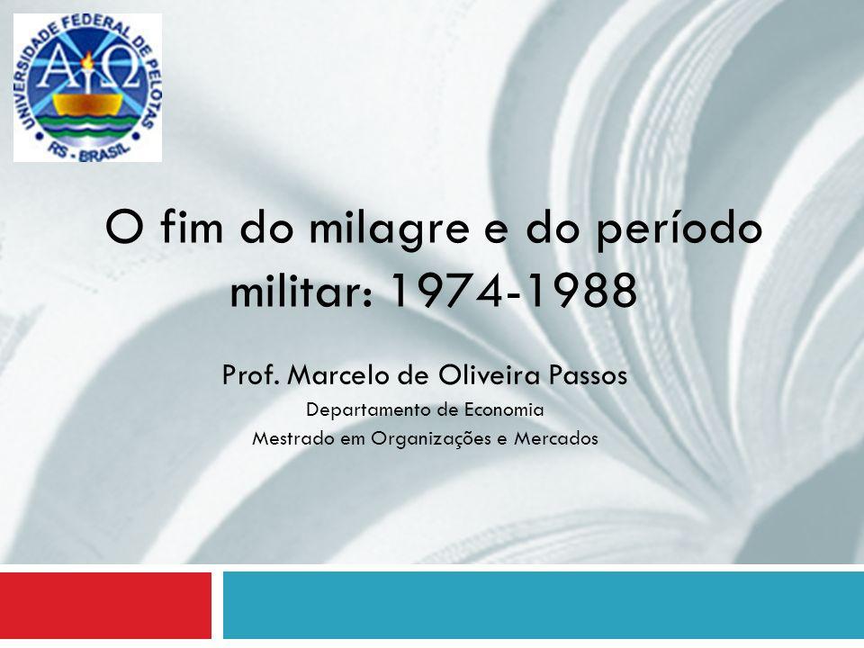 O fim do milagre e do período militar: 1974-1988