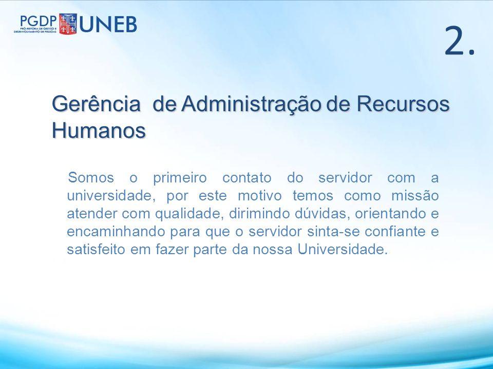 2. Gerência de Administração de Recursos Humanos