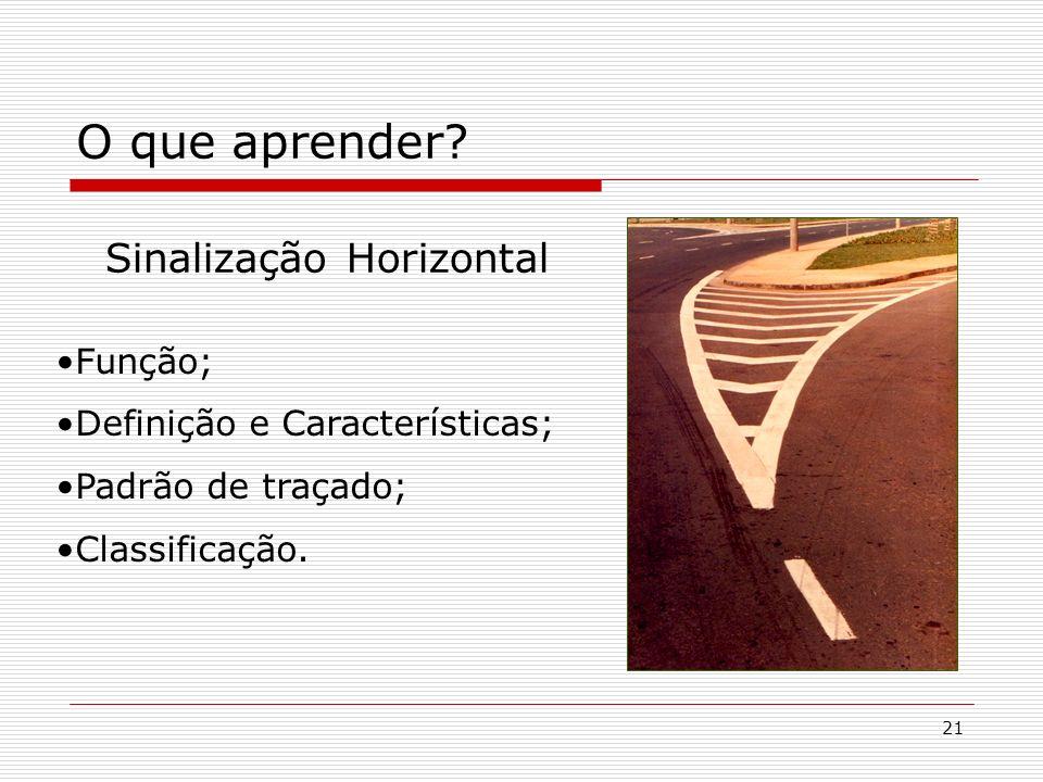 O que aprender Sinalização Horizontal Função;