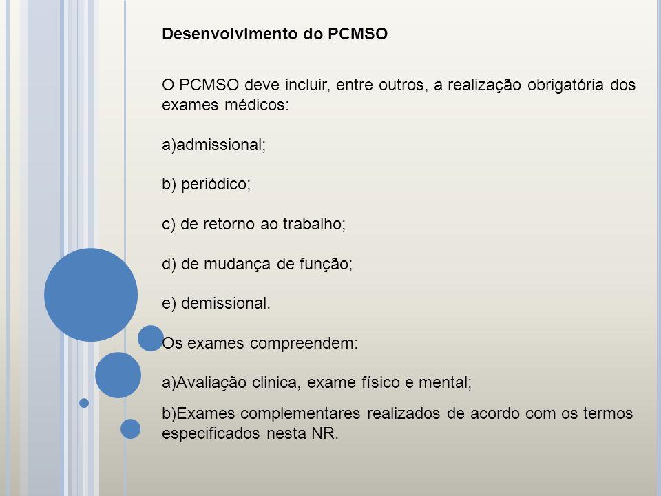 Desenvolvimento do PCMSO