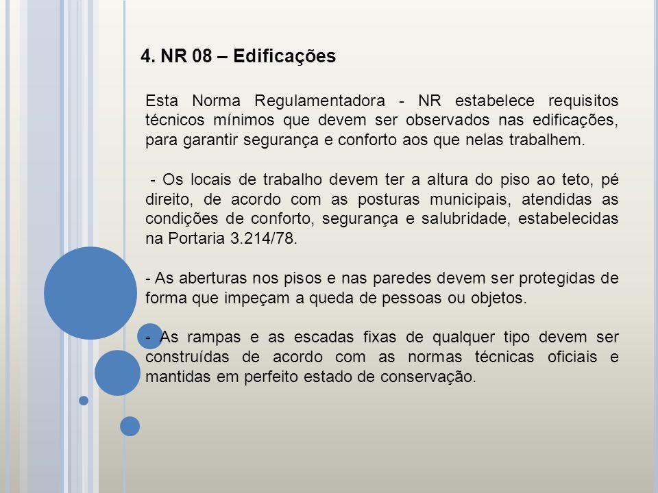 4. NR 08 – Edificações