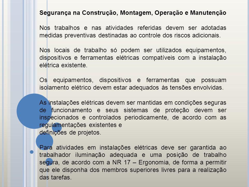 Segurança na Construção, Montagem, Operação e Manutenção