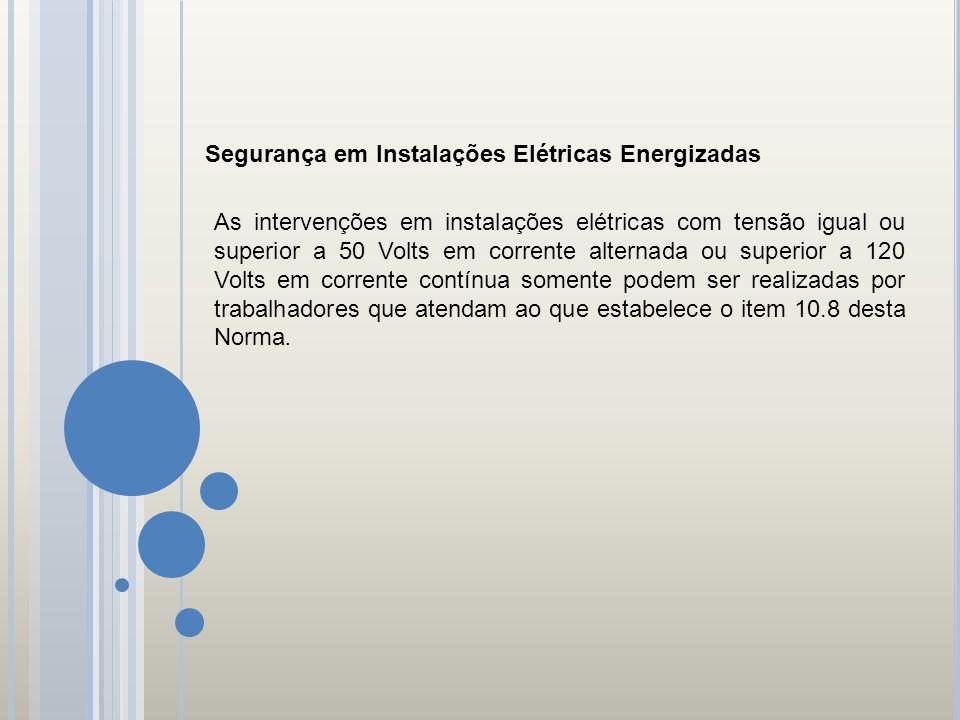 Segurança em Instalações Elétricas Energizadas
