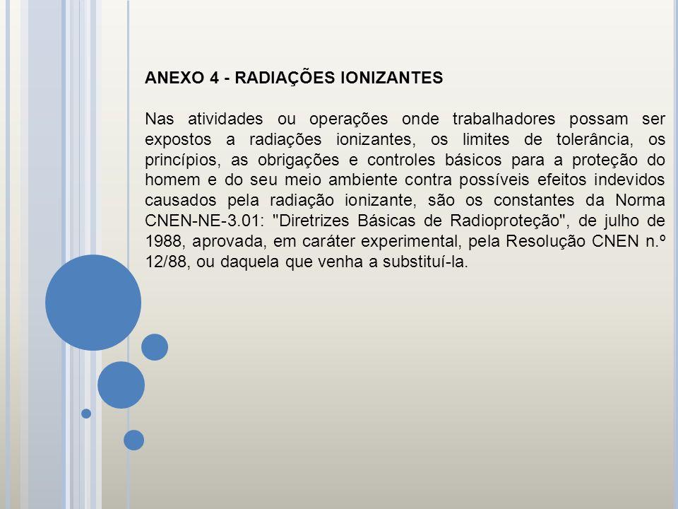 ANEXO 4 - RADIAÇÕES IONIZANTES