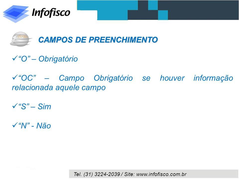 CAMPOS DE PREENCHIMENTO