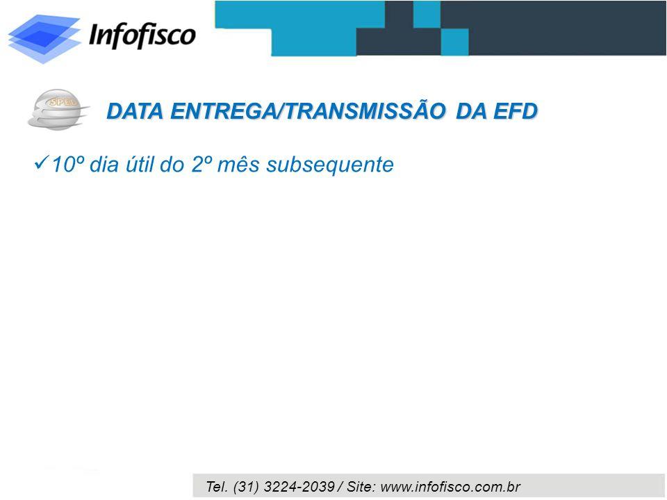 DATA ENTREGA/TRANSMISSÃO DA EFD