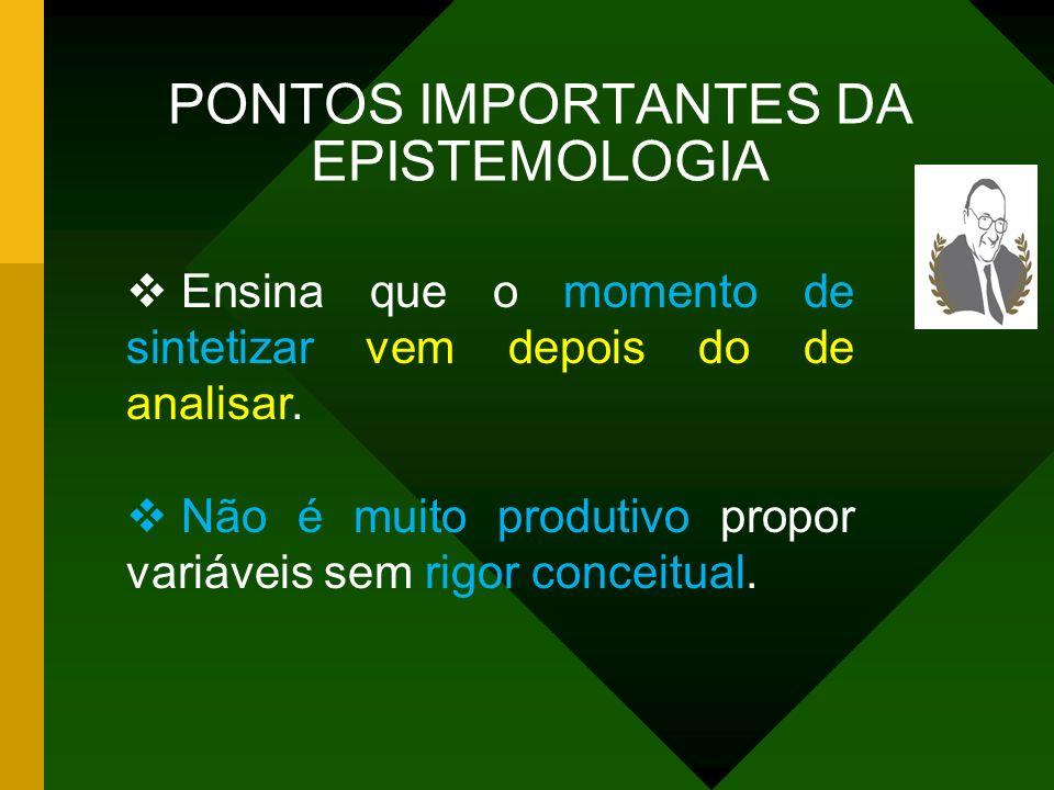 PONTOS IMPORTANTES DA EPISTEMOLOGIA