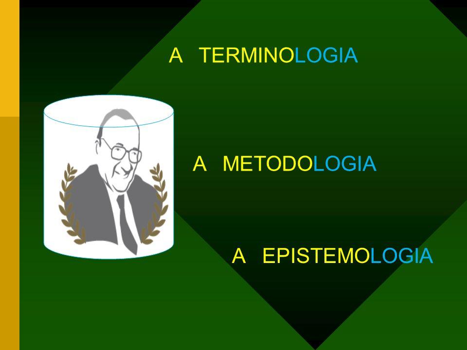 A TERMINOLOGIA A METODOLOGIA A EPISTEMOLOGIA