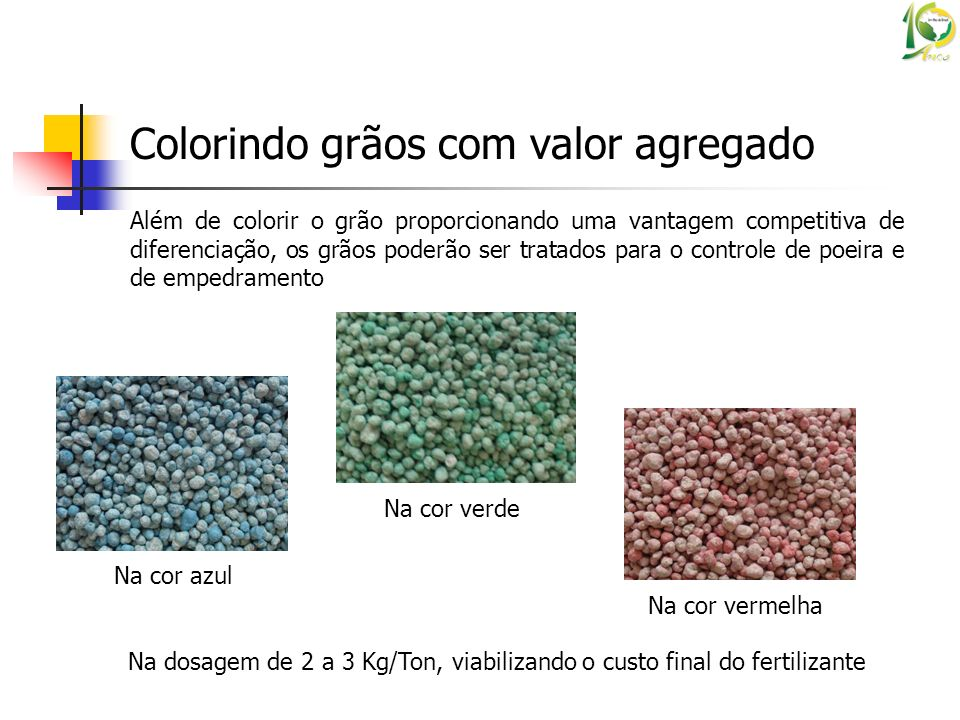 Colorindo grãos com valor agregado