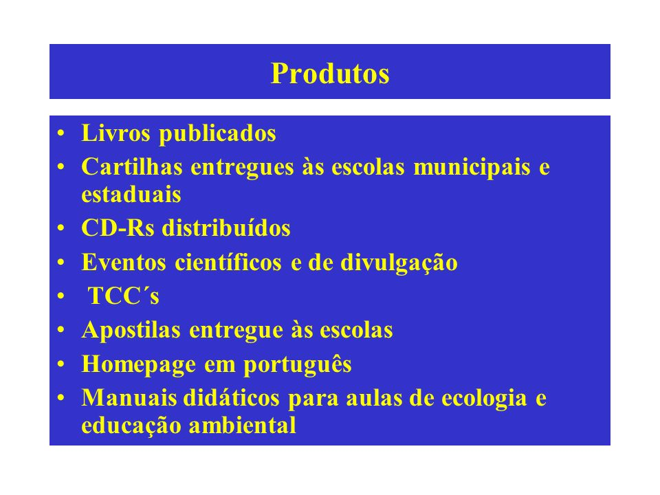 Produtos Livros publicados