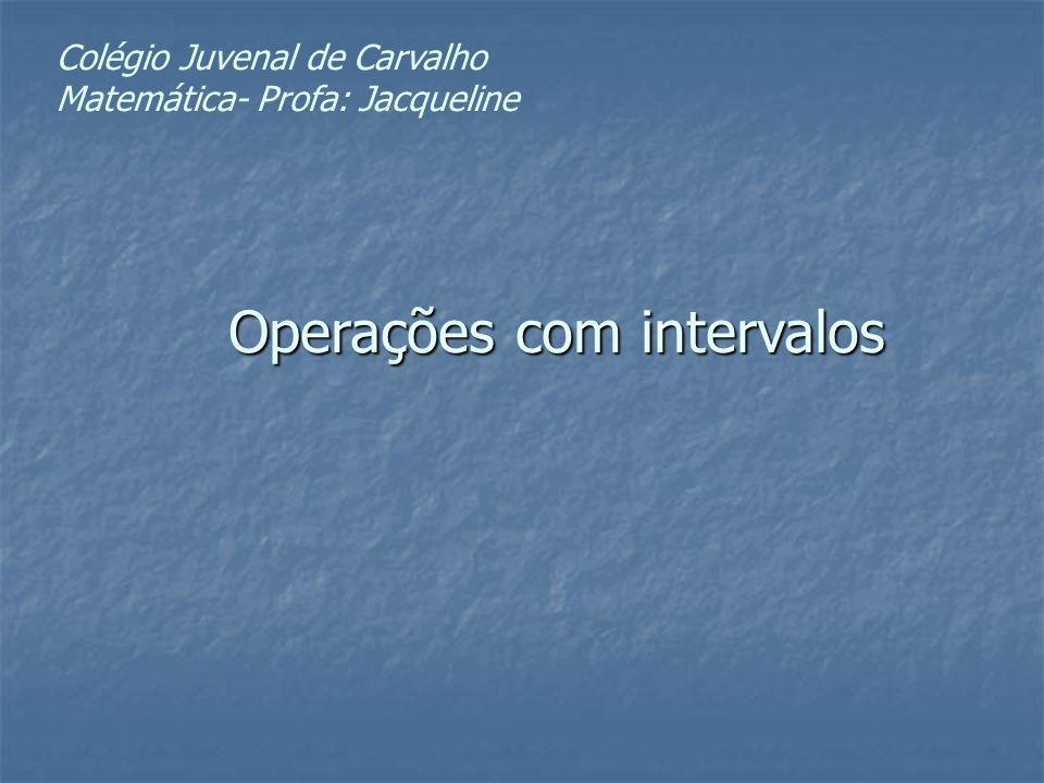 Operações com intervalos