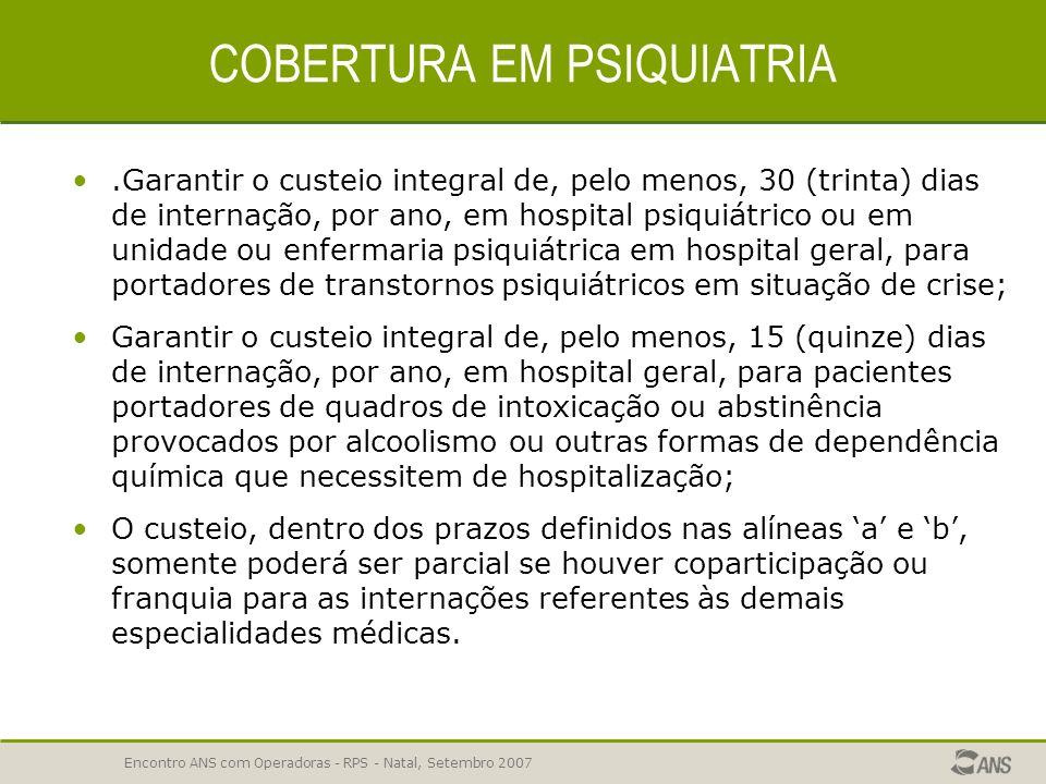 COBERTURA EM PSIQUIATRIA